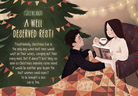 20 charming illustrations of Christmas traditions from