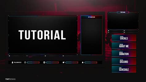 Free Animated Fortnite Twitch Live stream Overlay Template