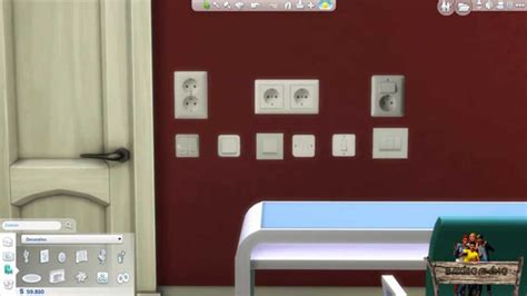 Bakies The Sims 4 Custom Content: Light Switch Wall