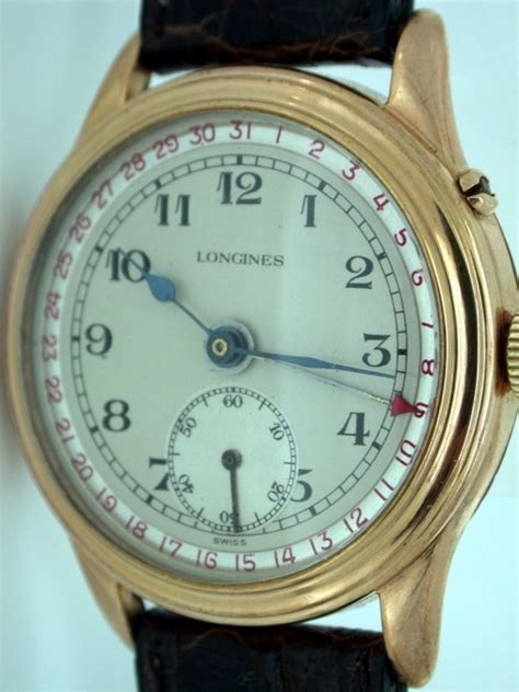 Beautiful and Rare Large 1940s Calendar Wristwatch with